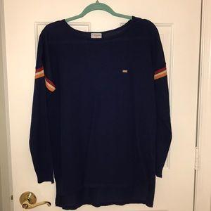 U.S. Polo Assn. navy striped sleeve sweater